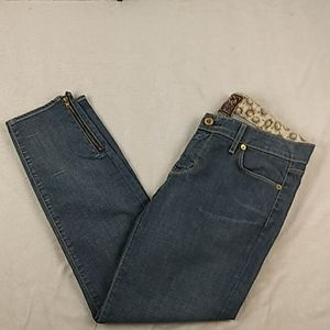 Rich and Skinny zipper ankle skinny jeans, 29